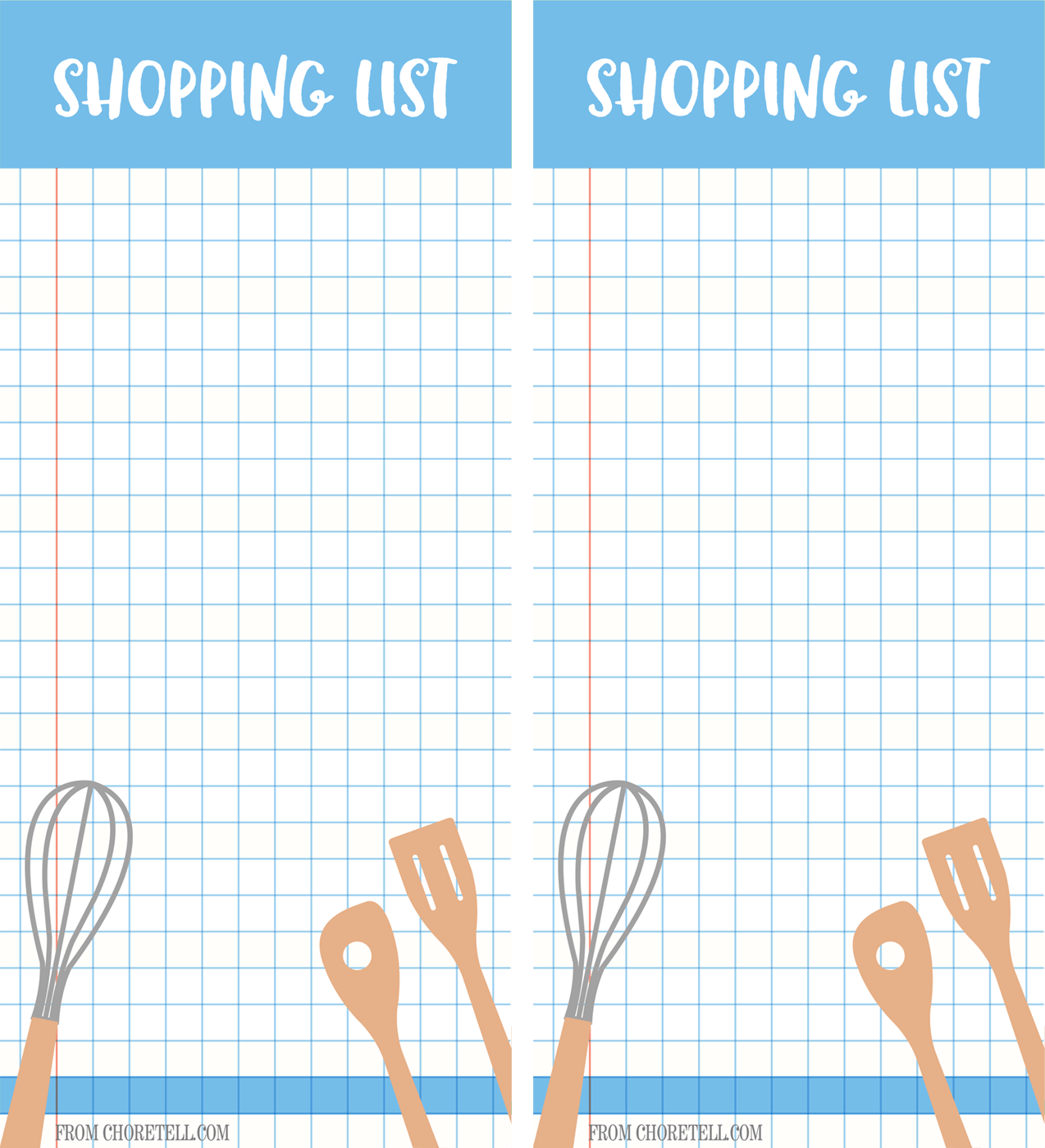 Printable Grocery Shopping List And Non Grocery List