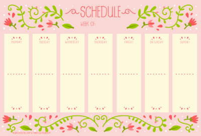 make a weekly schedule