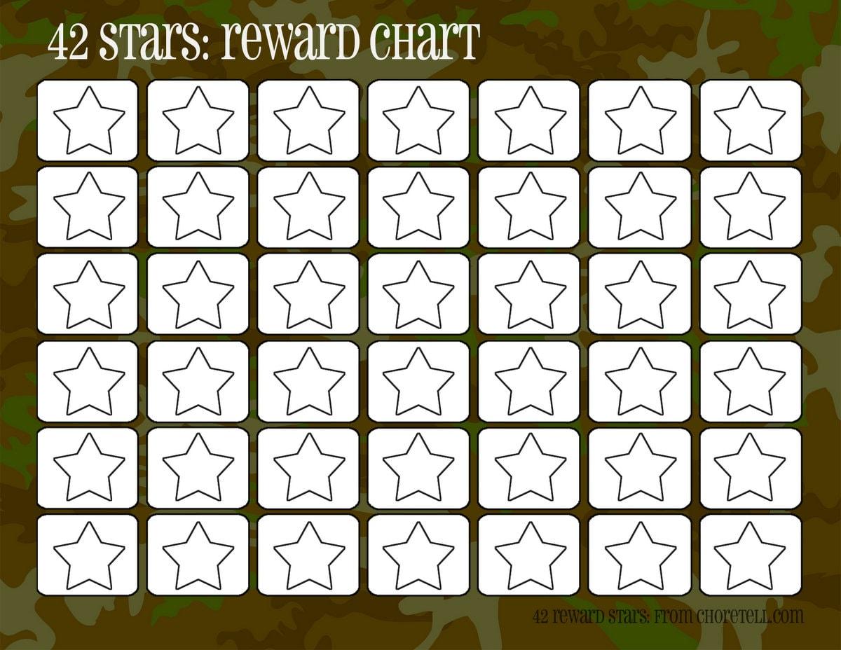 camo rewards charts  42 stars