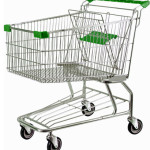grocery-shopping-cart-green