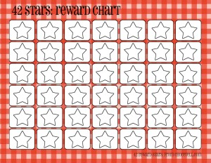 photograph relating to Star Reward Chart Printable called Plaid profit charts (42 superstars) - No cost printable downloads