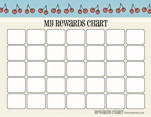 Cherry amp Strawberry themed Printable My Rewards Chart Free