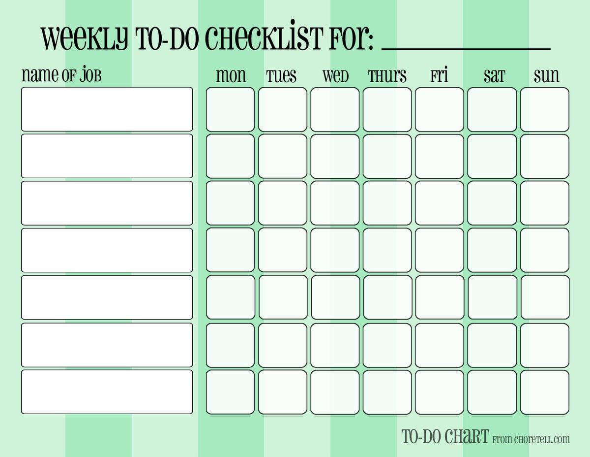 blank printable chore charts success