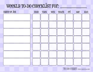 picture about Blank Chore Charts Printable titled Patterned weekly in the direction of-do chore checklists - Absolutely free printable