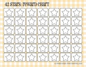 Plaid Reward Charts 42 Stars