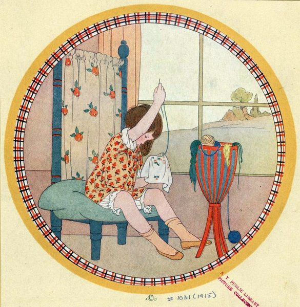 young-girl-sewing-1915